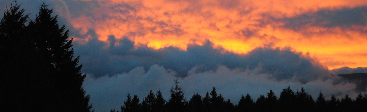 sunset in the Comox Valley